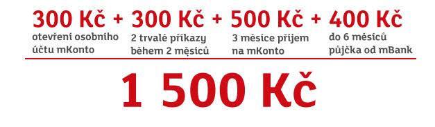 mbank odměna 1500